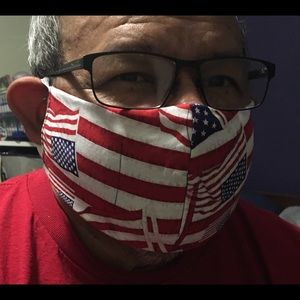 "COTTON MASK : "" STAY STRONG AMERICA"""
